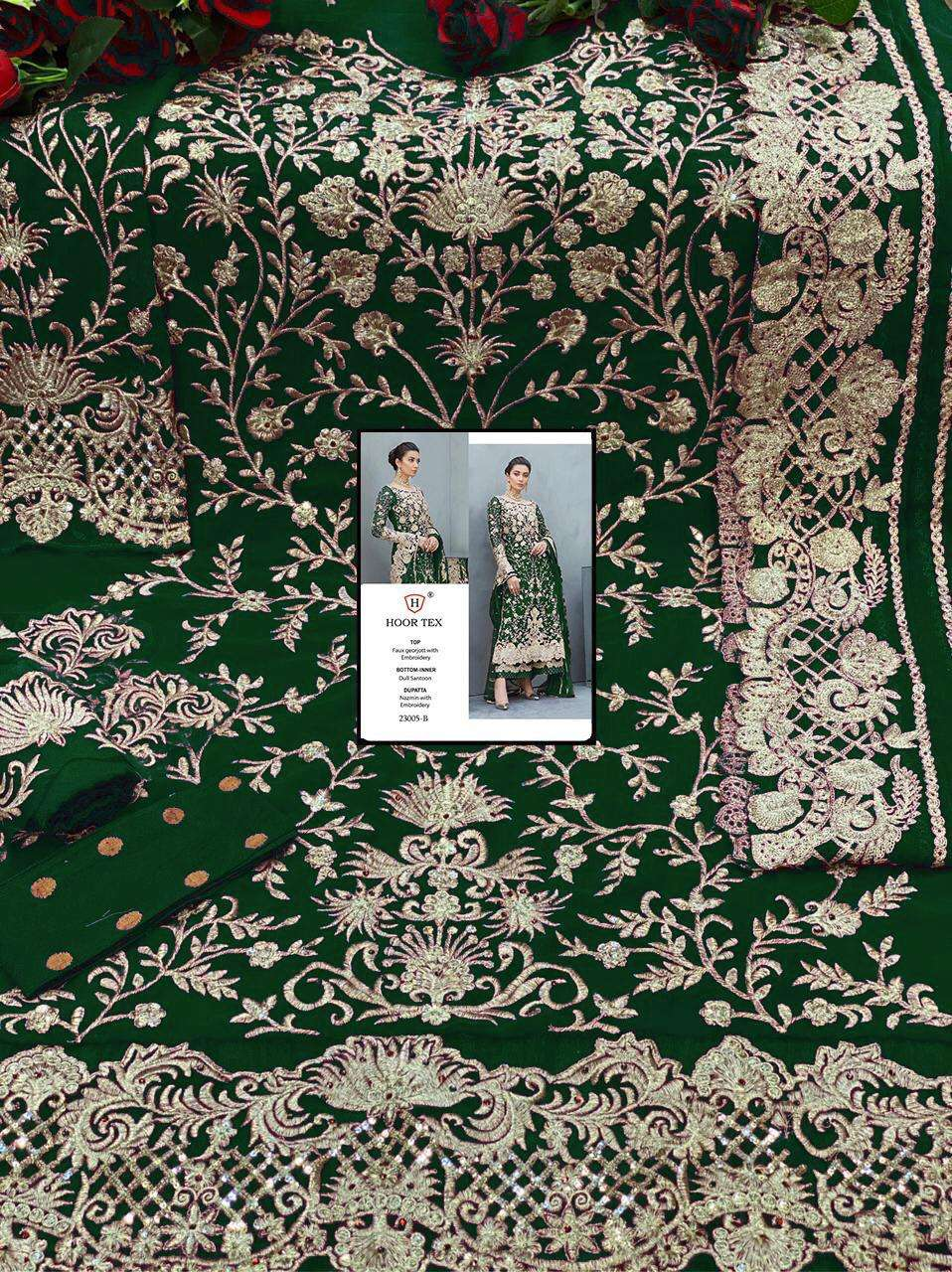 Hoor Tex 23005 Colors Faux Georgette With Embroidery Stone Work Pakistani Suits collection