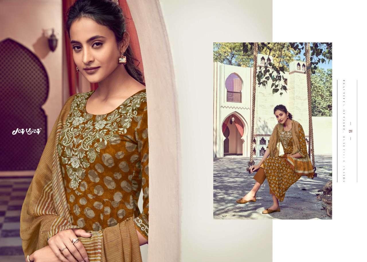Jay Vijay Sarang Modal Silk Print With Embroidery Work Dress Material collection