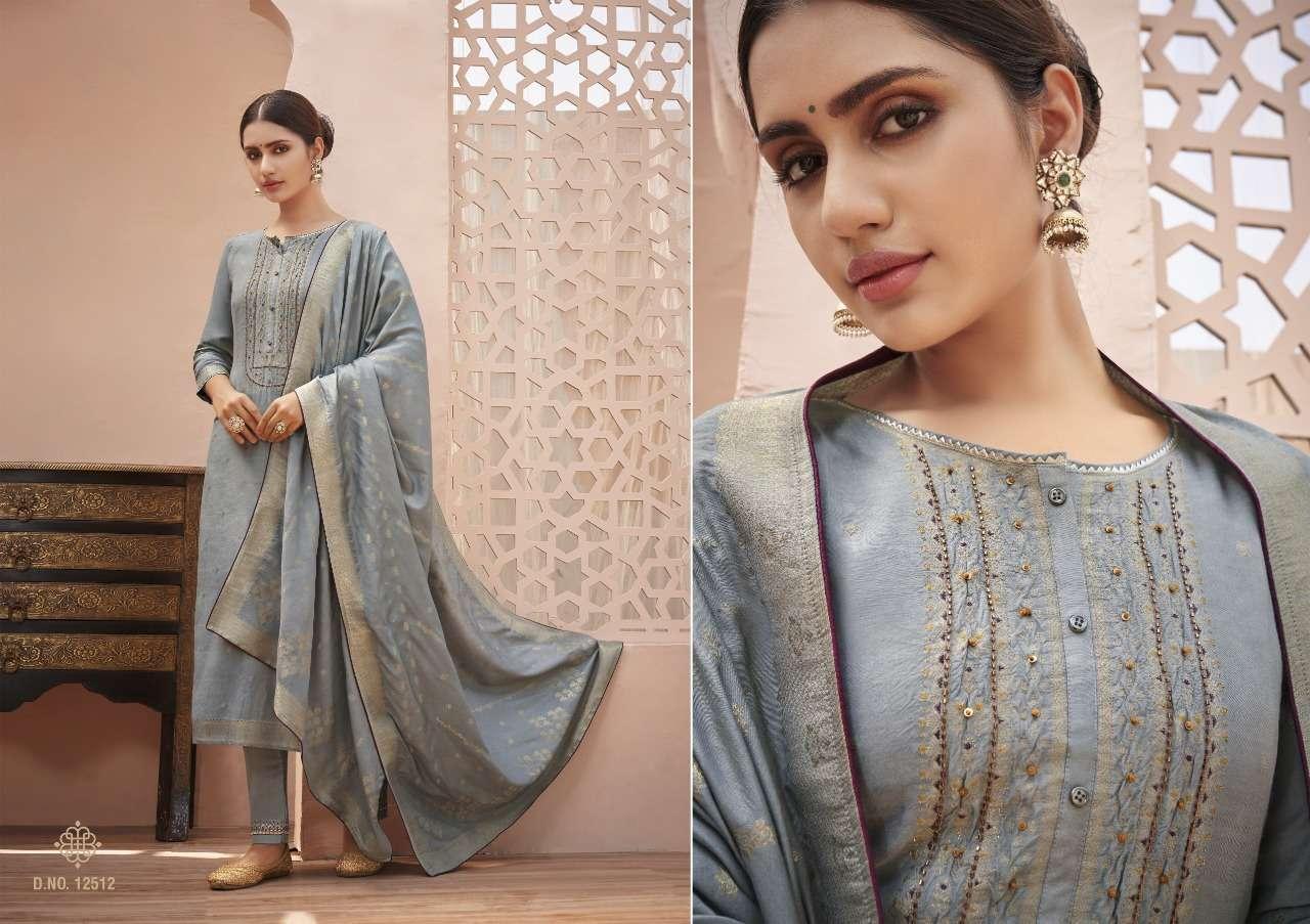Kessi fabrics Kalaroop Tani Jacquard With Fancy Khatli Work readymade Suits