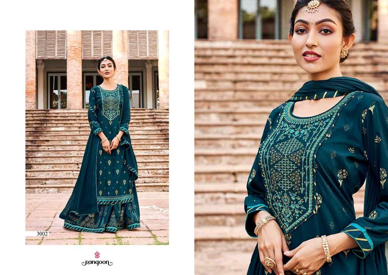 Kessi fabrics Rangoon Natraj Vol 4 Heavy rayon print With Embroidery Work readymade Salwar Suits