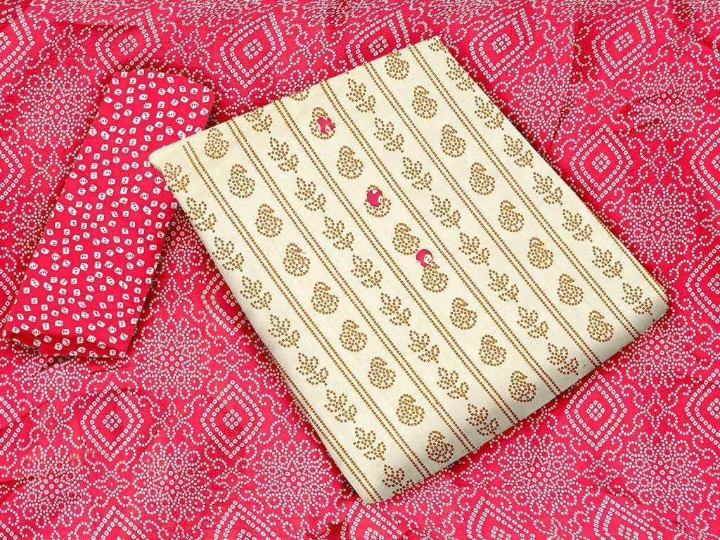 Khadi Cotton Printed Regular Wear Dress Material Collection 01