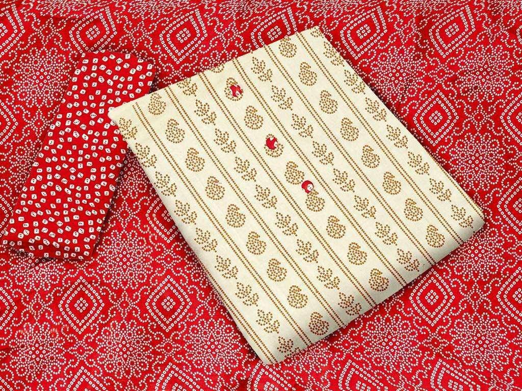 Khadi Cotton Printed Regular Wear Dress Material Collection 02