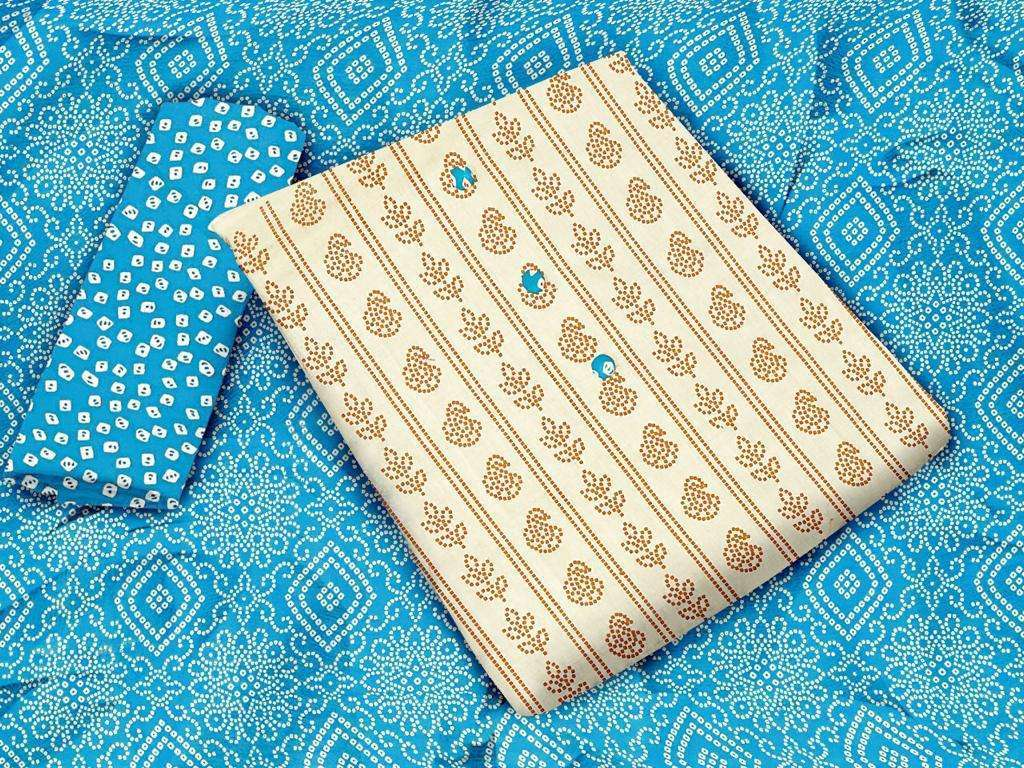 Khadi Cotton Printed Regular Wear Dress Material Collection 03