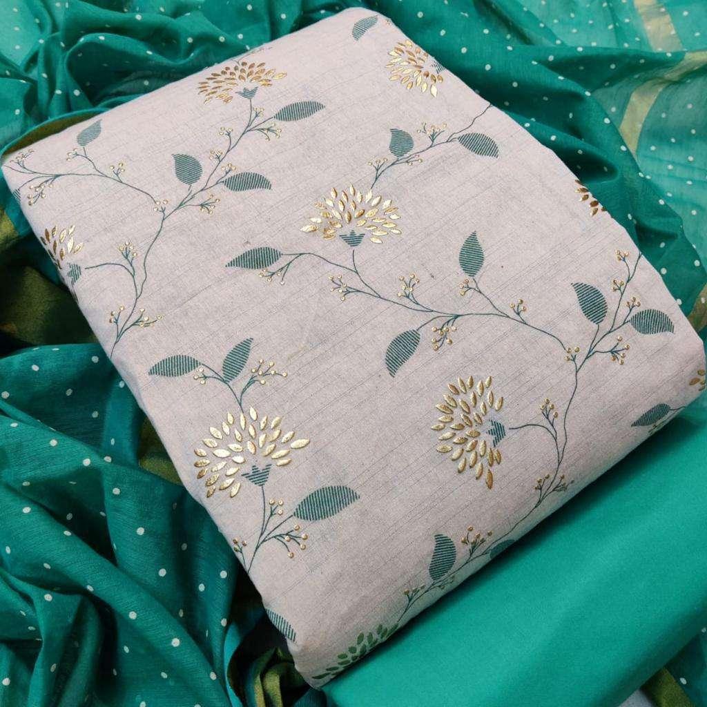 Khadi Print regular wear Dress Material collection