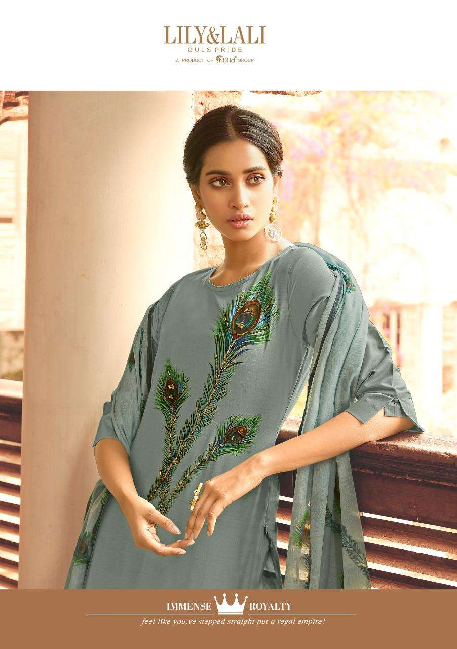 Lily & Lali Fabulous Vol 2 Bemberg Silk With hand Work Readymade Salwar Suits collection