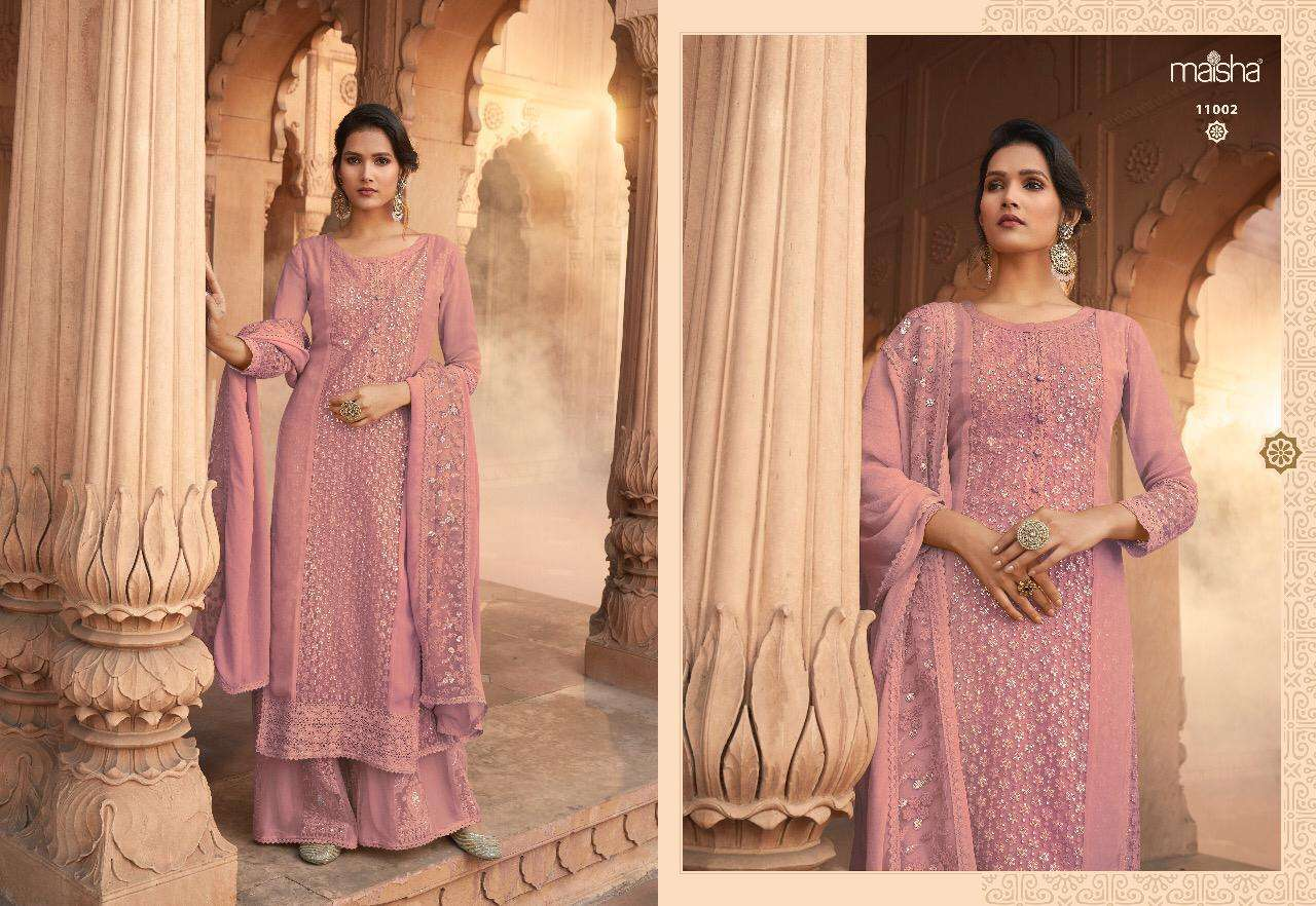 Maisha Ipsit Pure Georgette With Embroidery Work Salwar Kameez Collection