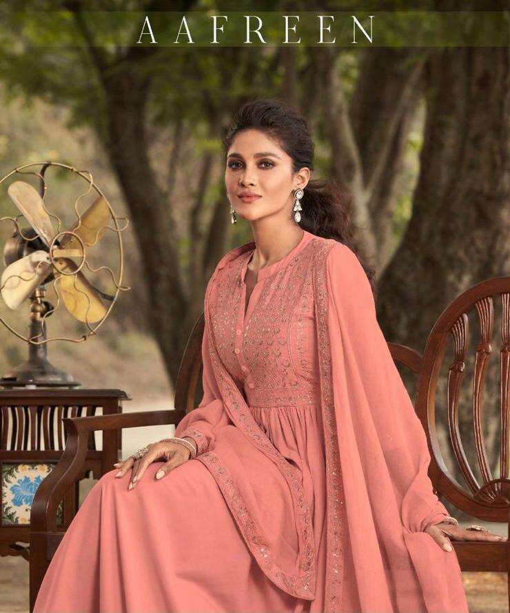 Maisha Maskeen Aafreen Pure Viscose Rayon With Embroidery Work Readymade Suits collection