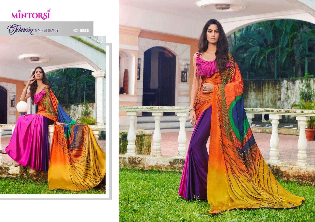 Mintorsi Mor Pankh Satin Satin Silk With Hand Print And Stone Diamond Work Sarees collection 08