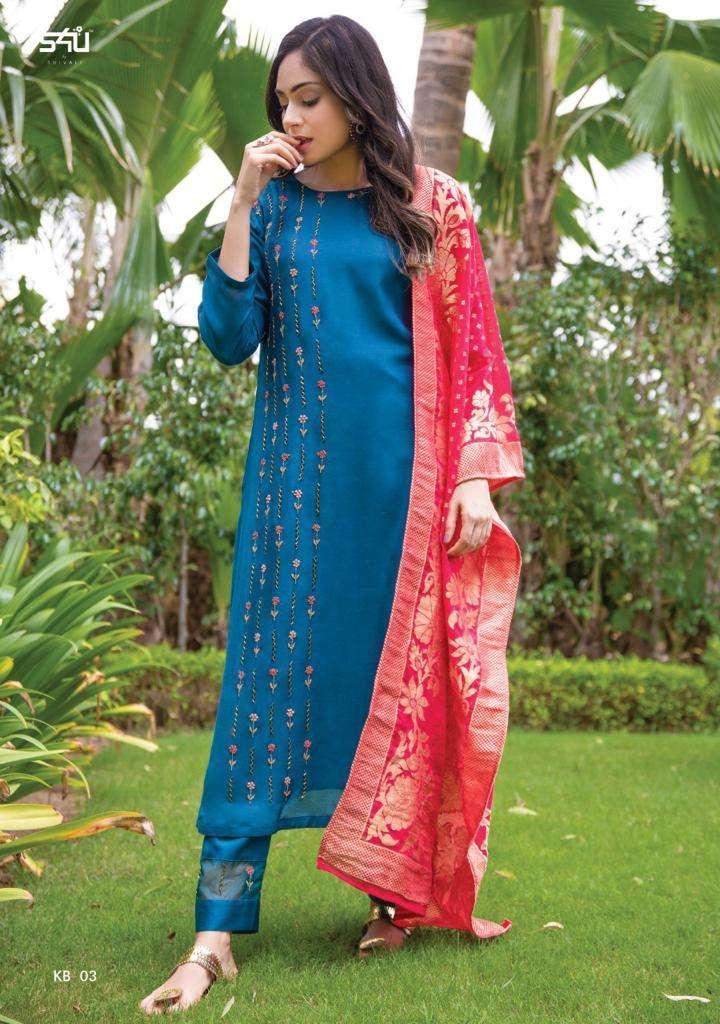 S4u Khwaab Vol 2 Fancy designer Hand work Kurti With pant dupatta Collection