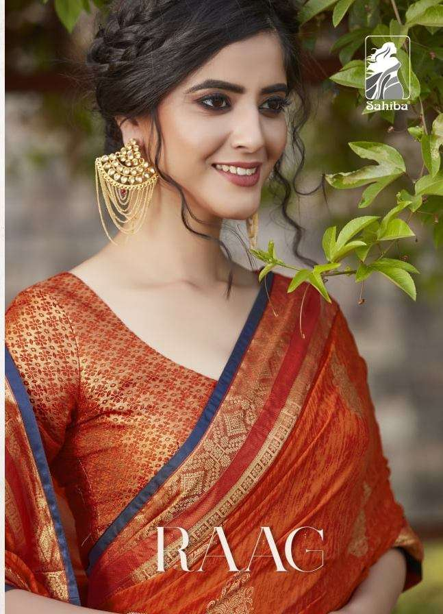 Sahiba Raag Georgette With lace Border Sarees Collection