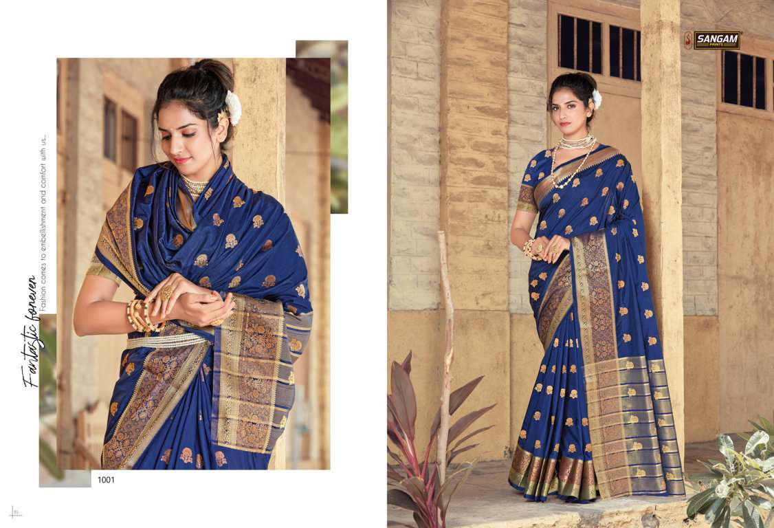 Sangam Prints Indrani Silk Traditional Sarees collection