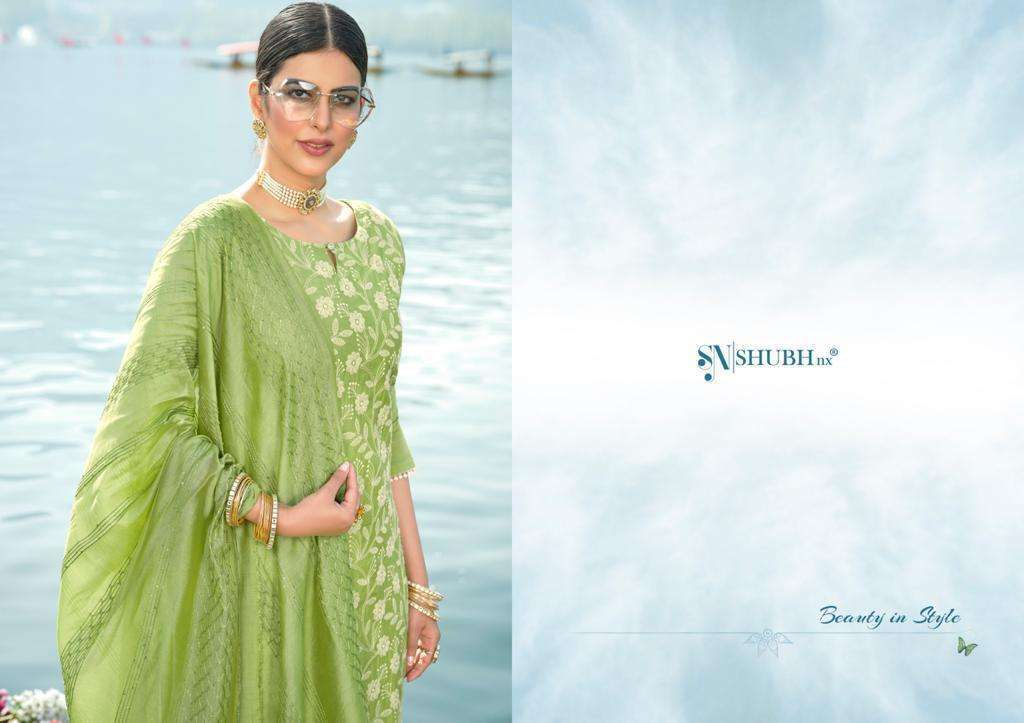 Shubh NX Lucknowi Chanderi Viscose With Work readymade Salwar Kameez Collection
