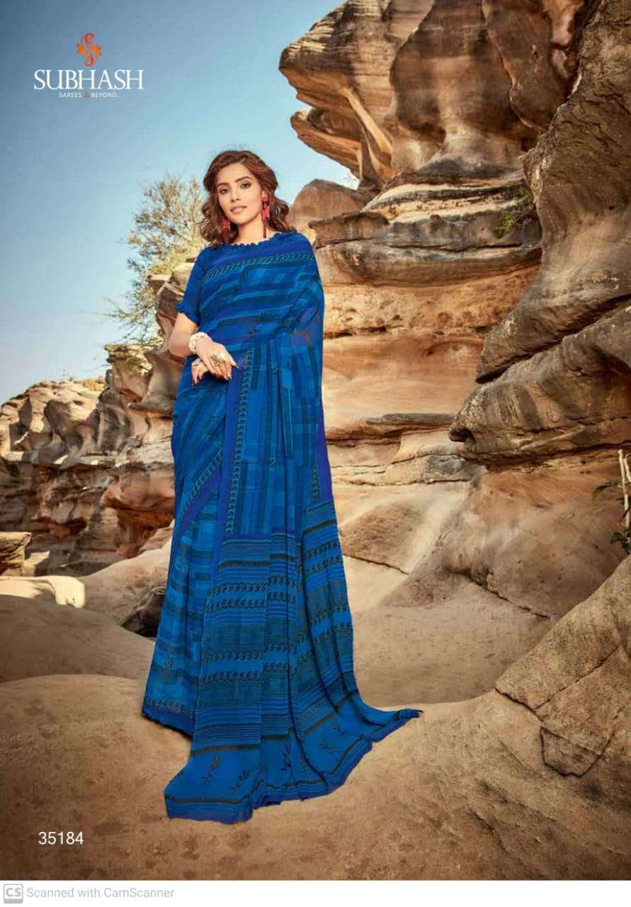 subhash georgette with regular wear saree collection 014