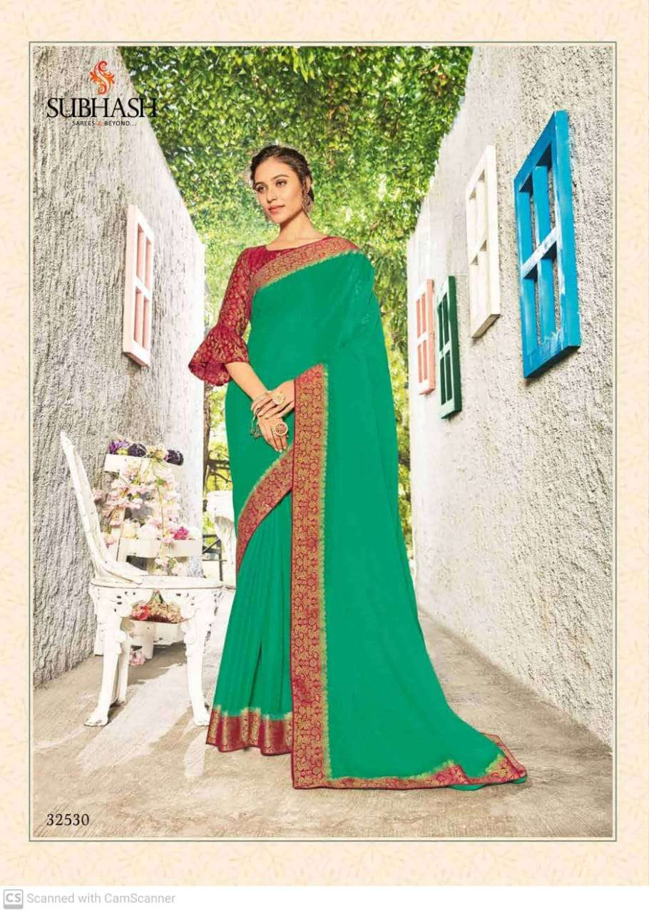 subhash sparsh vol 5 georgette with party wear saree collection  010