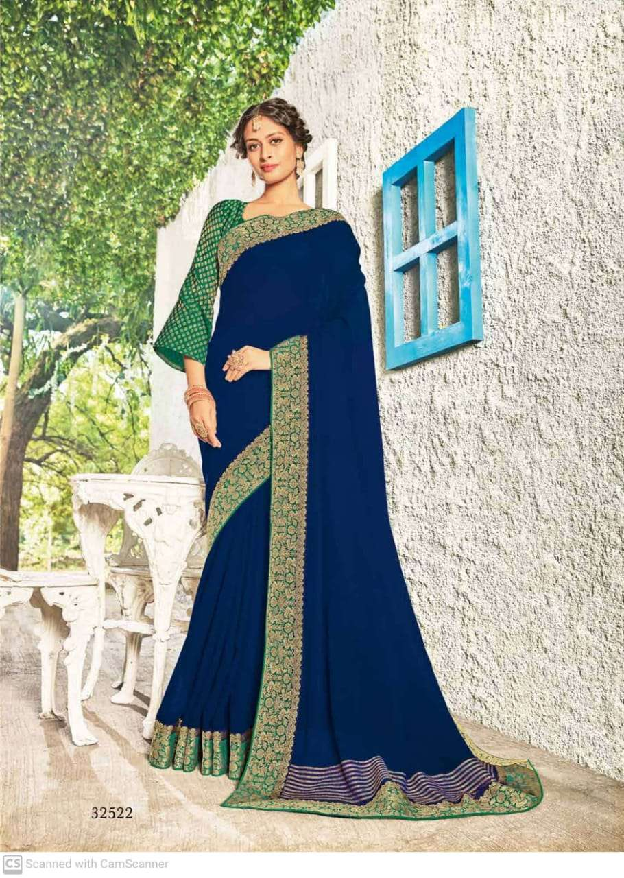 subhash sparsh vol 5 georgette with party wear saree collection  02