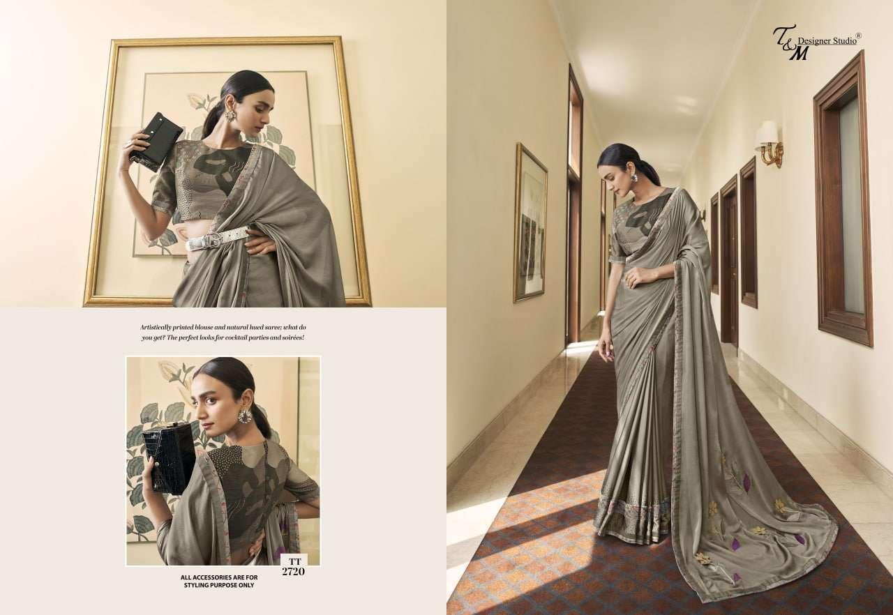 T&M Tatvam Vol 27 Fancy Designer Party Wear Sarees Collection 2720