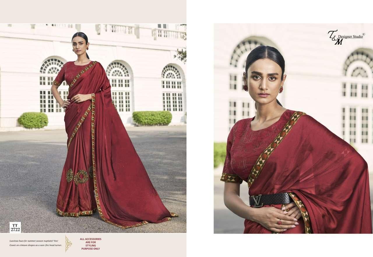 T&M Tatvam Vol 27 Fancy Designer Party Wear Sarees Collection 2722