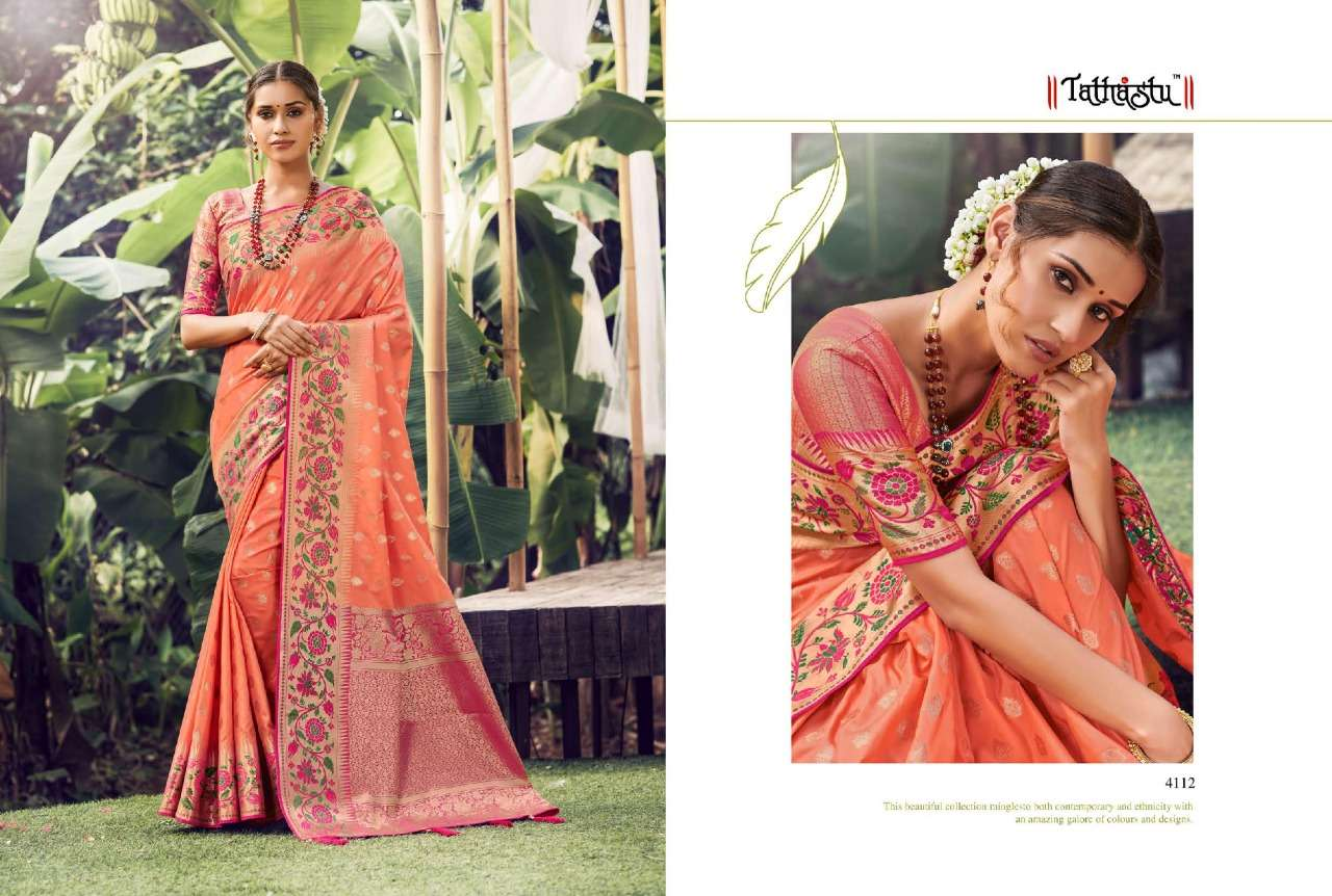 Tathastu 4100 Series Heavy Designer Silk Sarees Collection  010