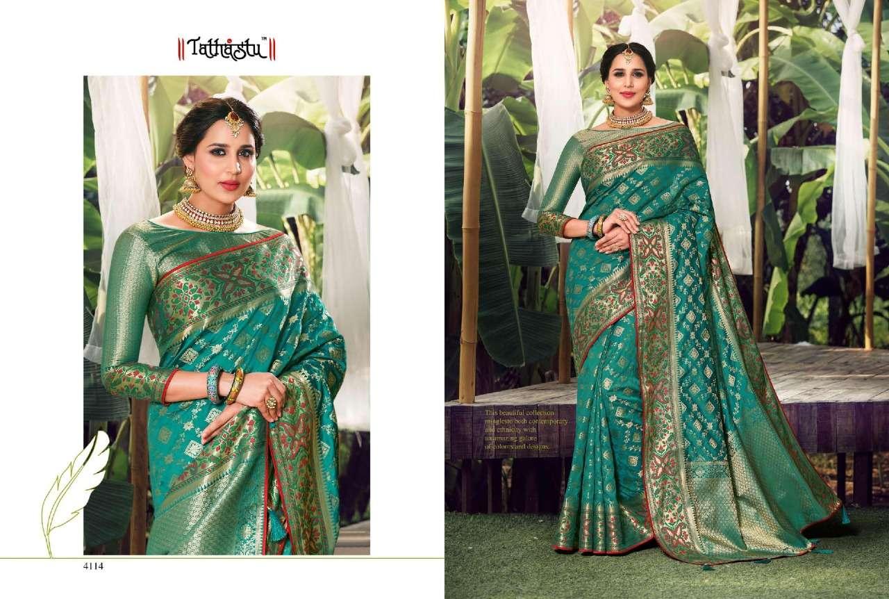 Tathastu 4100 Series Heavy Designer Silk Sarees Collection  09
