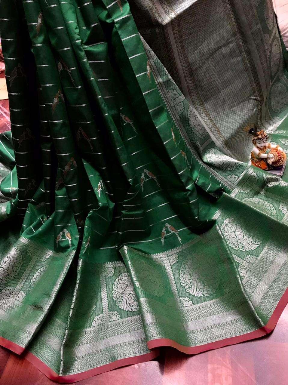 Trisha  PURE Jacquard fabrics with Silver & Gold pure zari work  SAREE COLLECTION