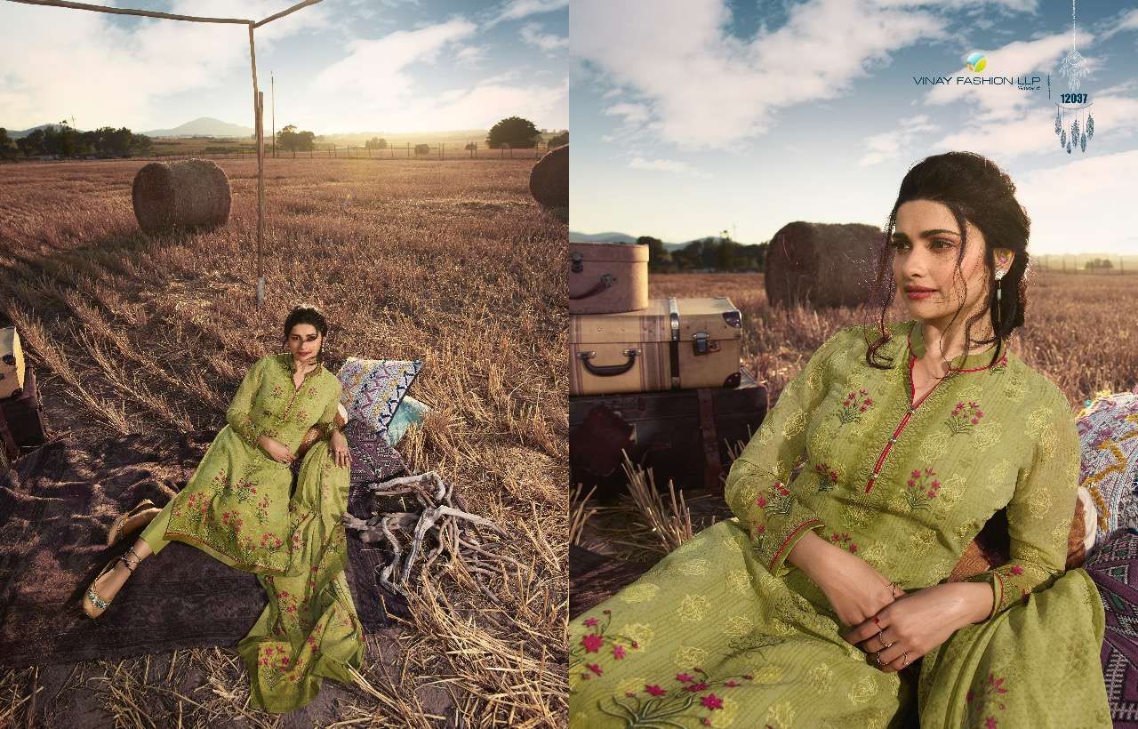 Vinay Fashion Fusion Vol 2 Georgette Digital Print With Embroidery Work Dress Material collection