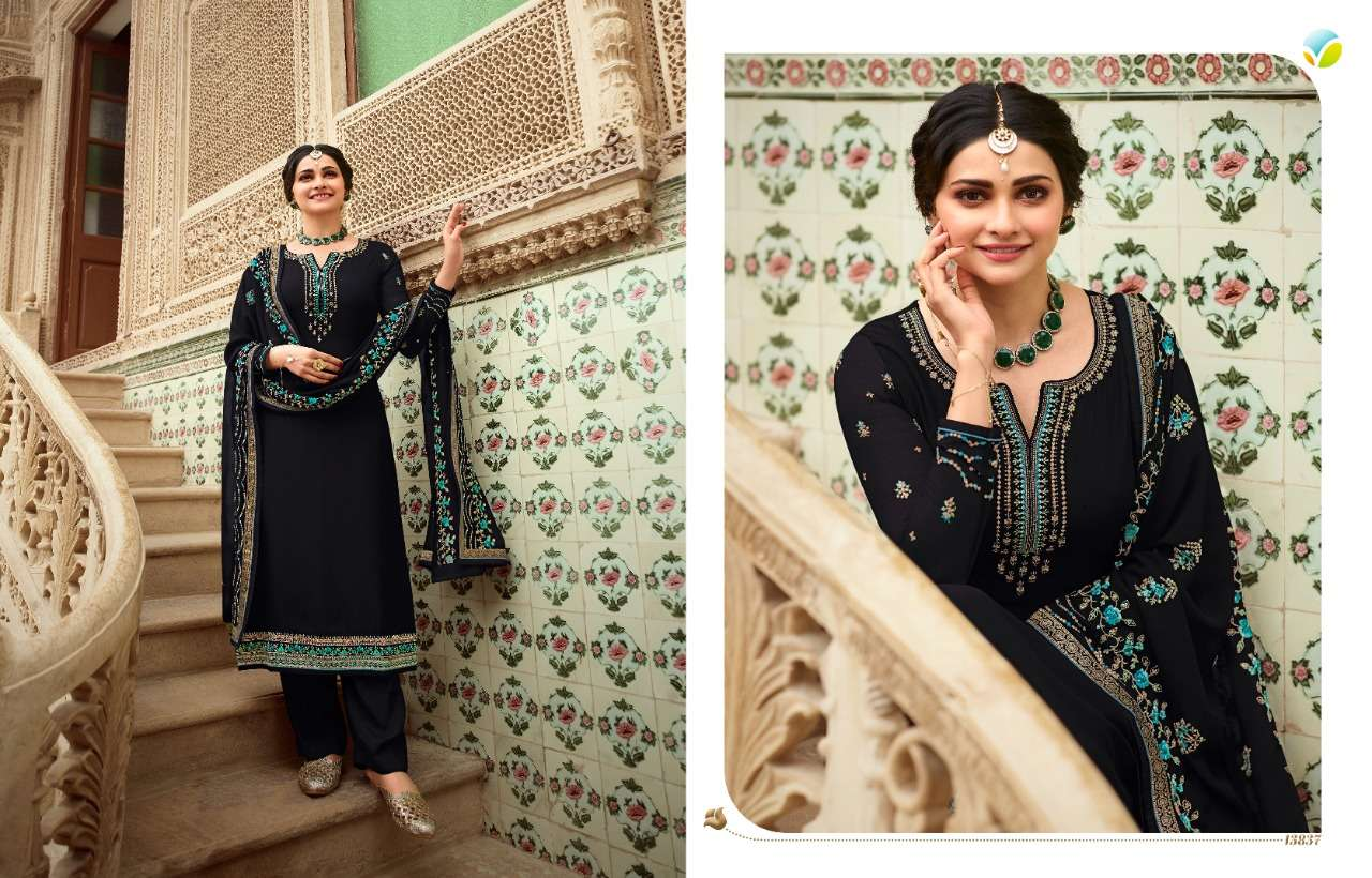 VINAY FASHION KASEESH AFSAANA GEORGETTE WITH EMBROIDERY WORK DRESS MATERIAL COLLECTION