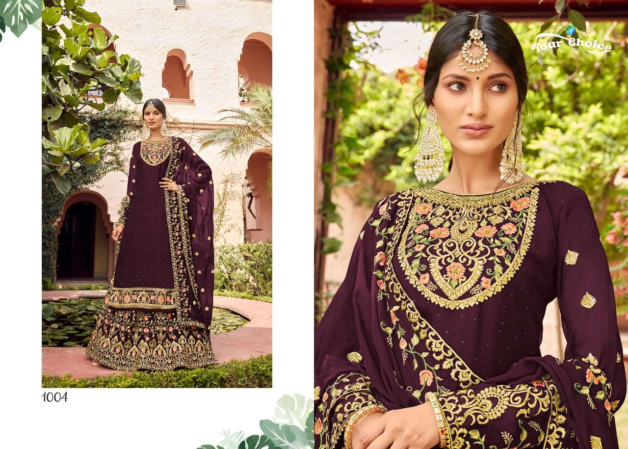 Your choice myntra Pure Georgette With Embroidery Work Salwar Kameez Collection