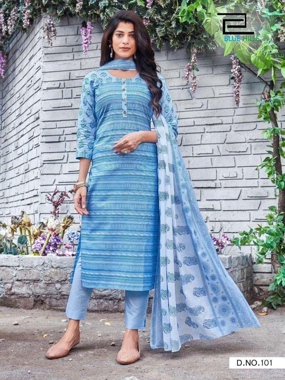 Blue Hills Cotton Candy Vol 1 Cotton Cambric Cotton print Kurti with Bottom Dupatta Collection