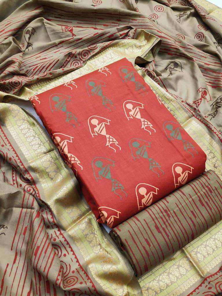 Cotton Printed Regular Wear Dress Material Collection 01