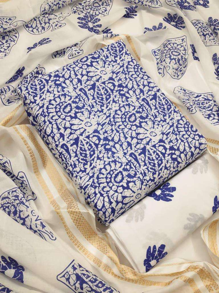 Cotton Printed Regular Wear Dress Material Collection 08