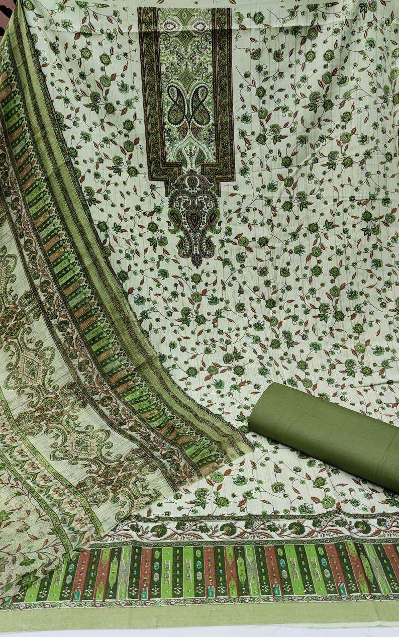Cotton With Floral Printed Dress Material Collection 02