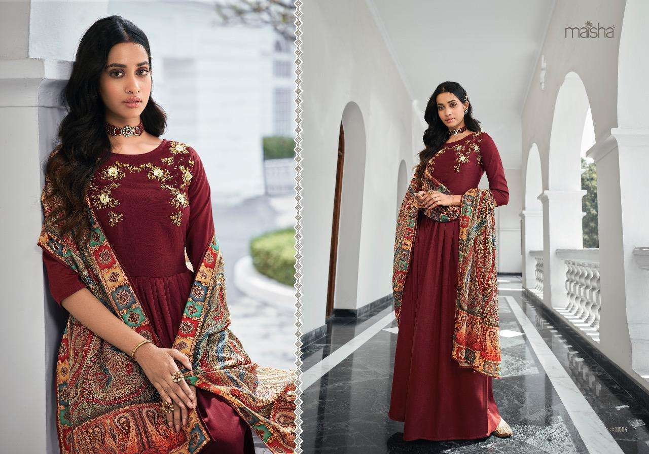 Maisha Maskeen Masleen Pure Viscose with Embroidery Hand Work readymade Suits With Dupatta collection