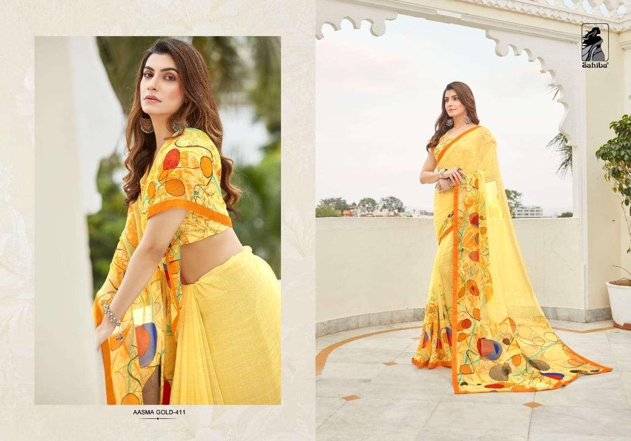 Sahiba Asm Gold Vol 4 Georgette Printed Sarees Collection