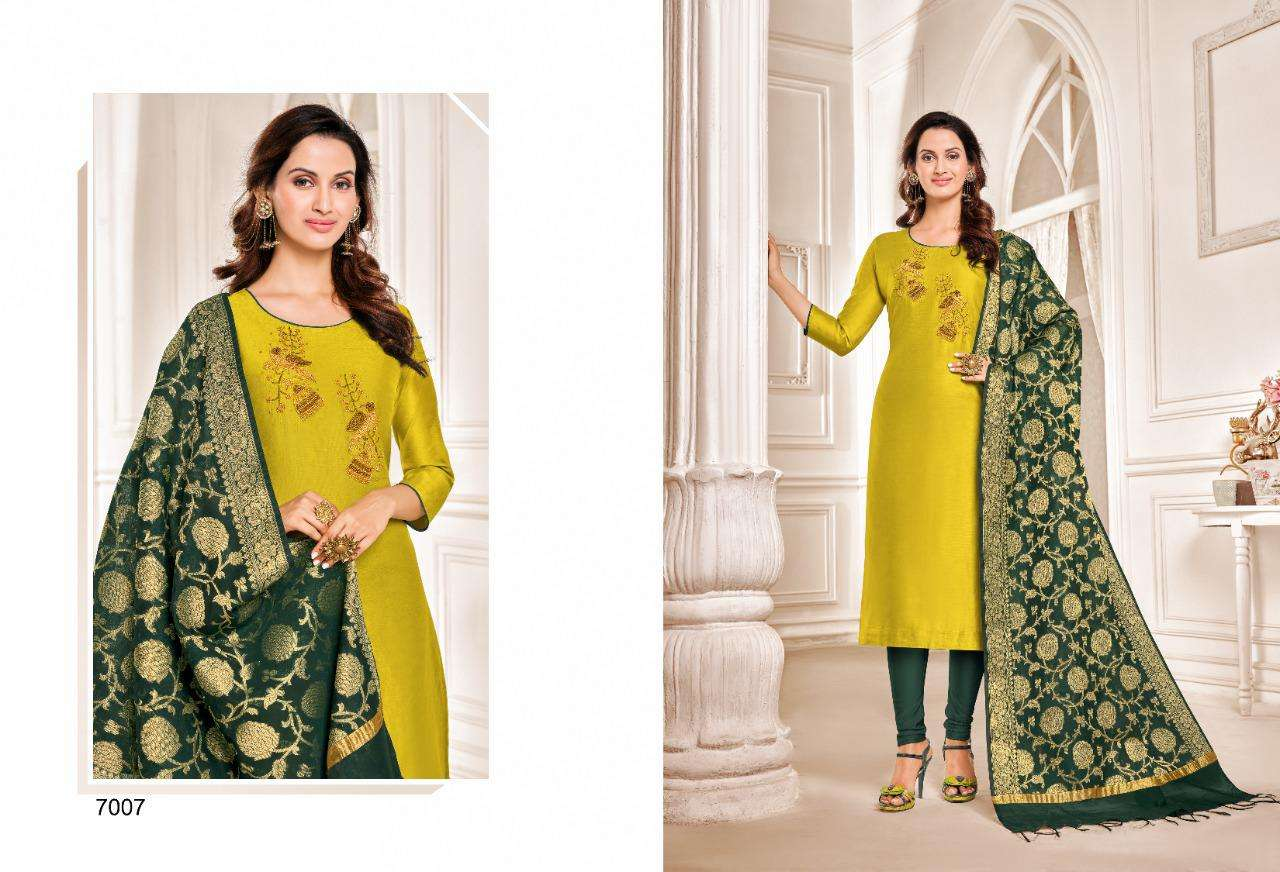 Shagun Lifestyle Vol 7 Modal Silk With hand Work Dress Material Collection