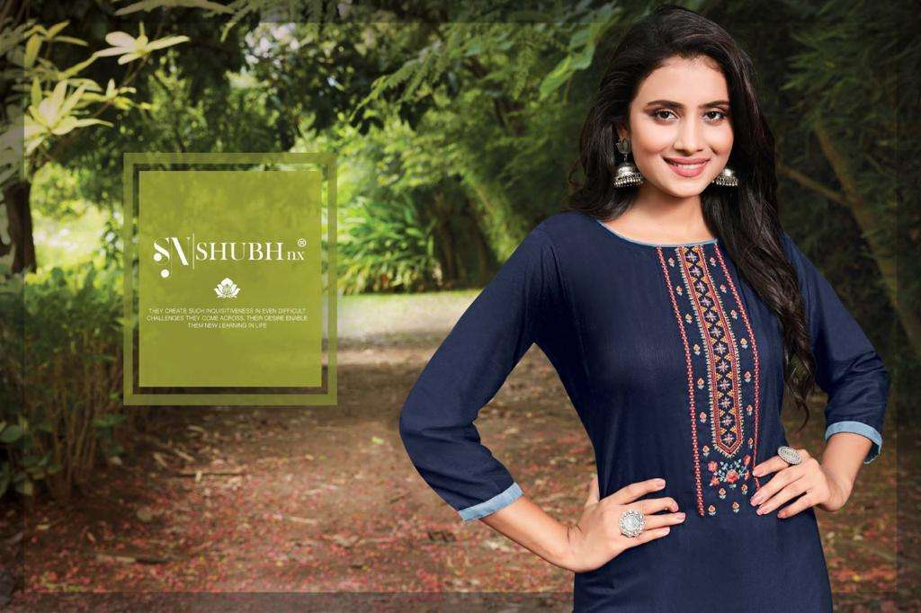 Shubh NX Nach Baliye Vol 2 Viscose Slub With Embroidery Work kurtis Collection