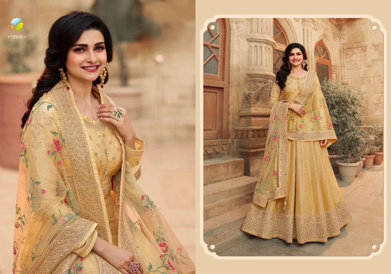Vinay fashion Kaseesh Parimahal Hit List Dola silk With Embroidery Work Salwar Kameez Collection