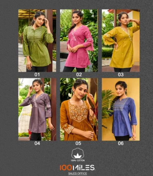 100 MILES TANUJA COTTON  SHORT TOP COLLECTION