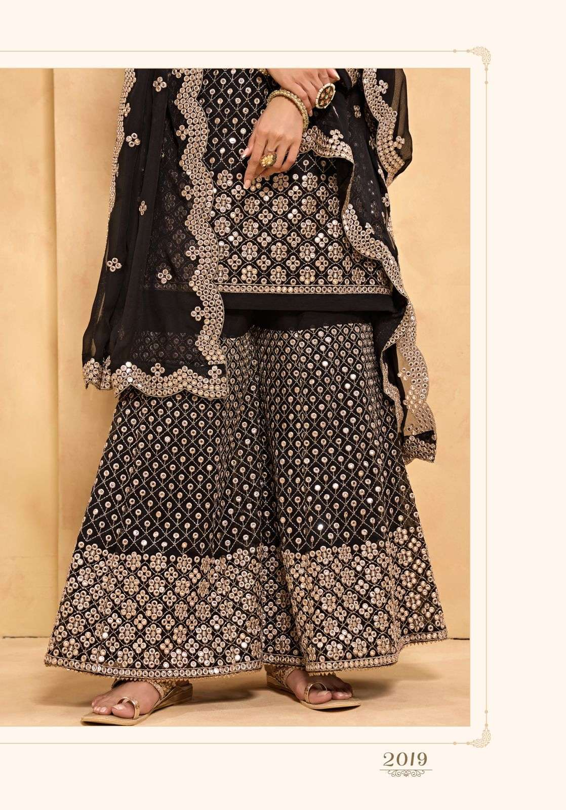 Alizeh Zaida Vol 5 Georgette With Fancy Work Readymade Sharara Collection 02
