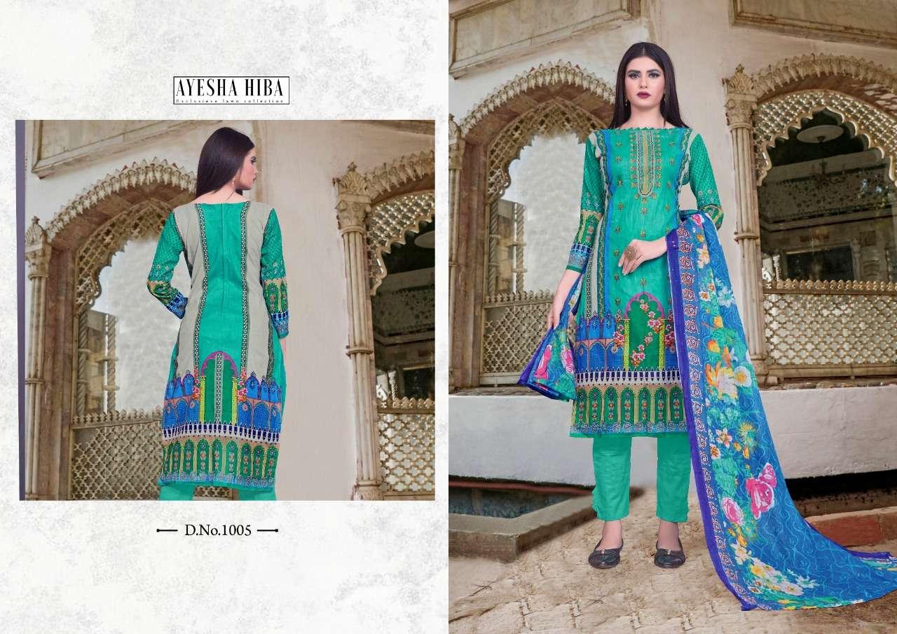 Ayesha Hiba Vol 1 Pure lawn Printed Pakistani Suits Collection