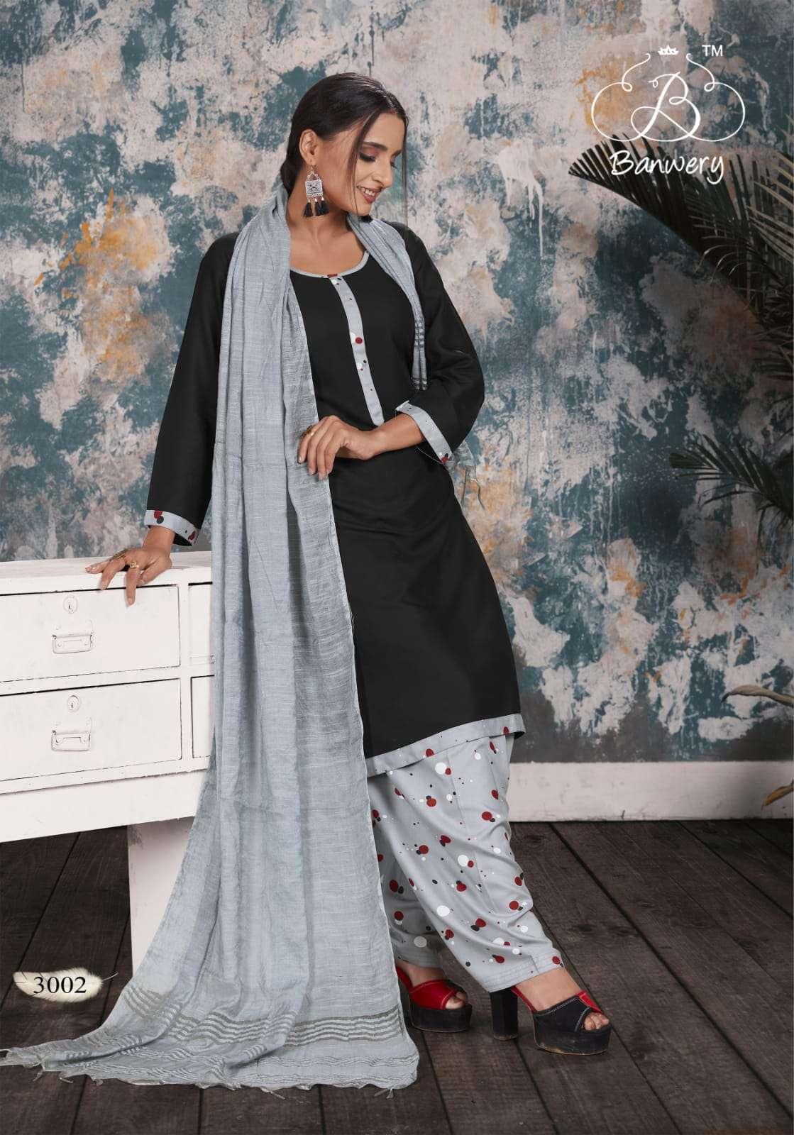 Banwery Soni Kudi 3 latest rayon readymade punjabi salwar kameez style