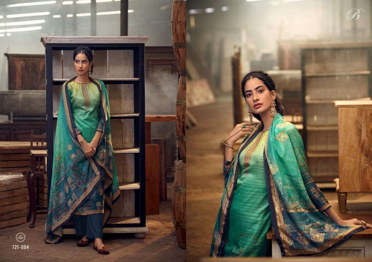 Belliza Designer Studio Heritage handloom Silk With Work Dress Material collection