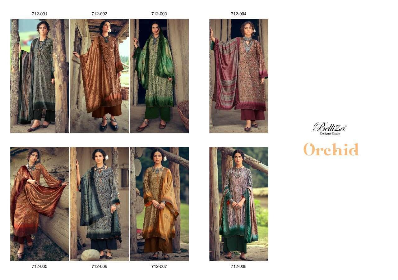 Belliza Designer Studio Orchid velvet Digital print winter Suits Collection
