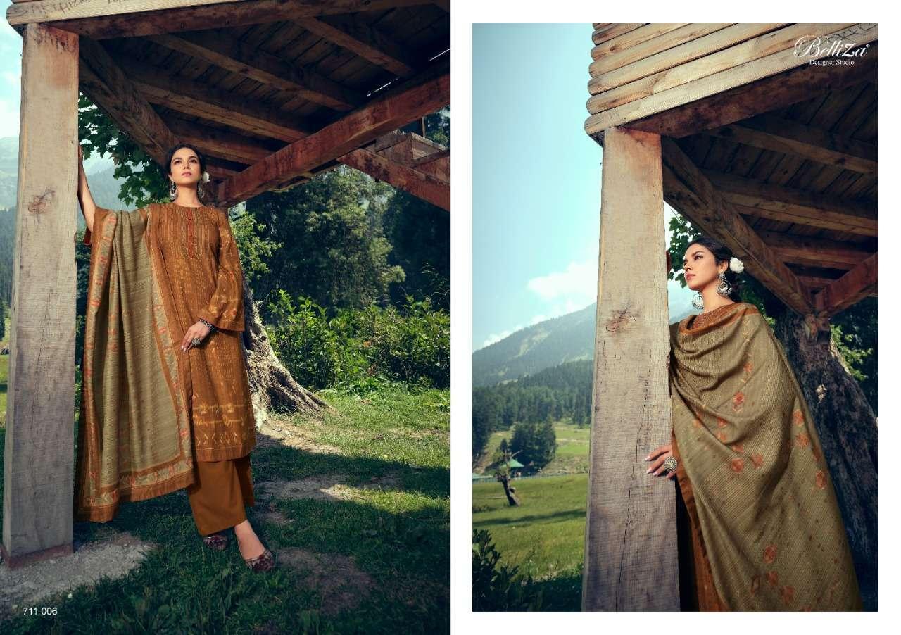 Belliza Designer Studio Stella Pashmina Digital Print Winter Collection