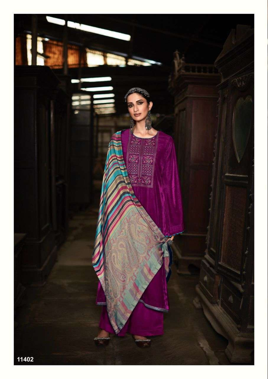 Deepsy Suits Sahjadi Velvet With Embroidery Work Pashmina Suits Collection