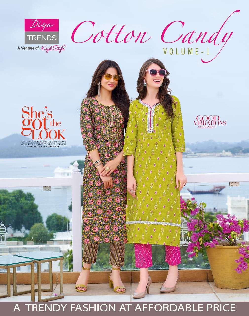 Diya Trends Cotton Candy Vol 1 Cotton Printed Kurti With Bottom Collection