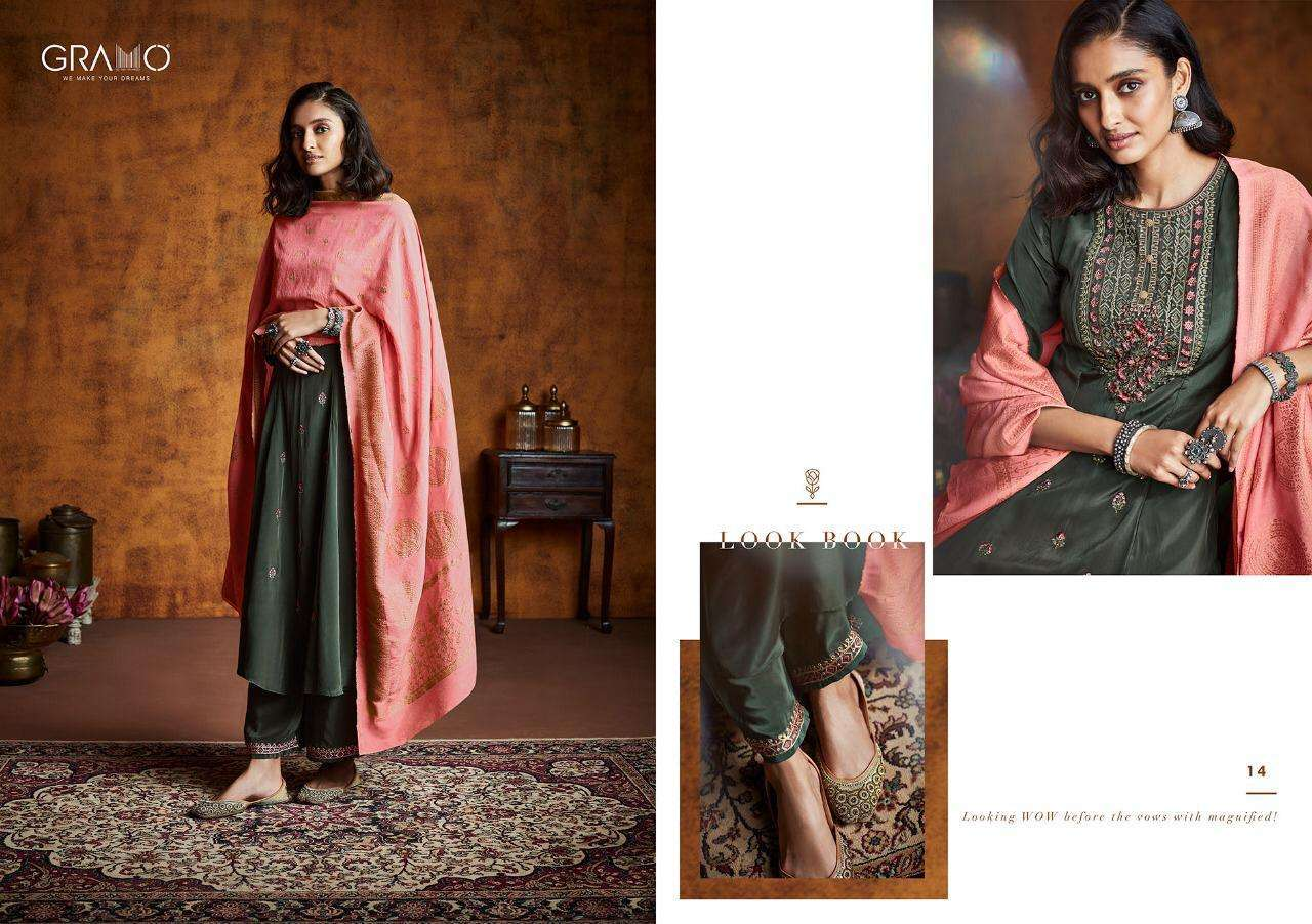 Gramo Mayra Vol 1 Fiona Silk With Work Readymade Suits Collection 02