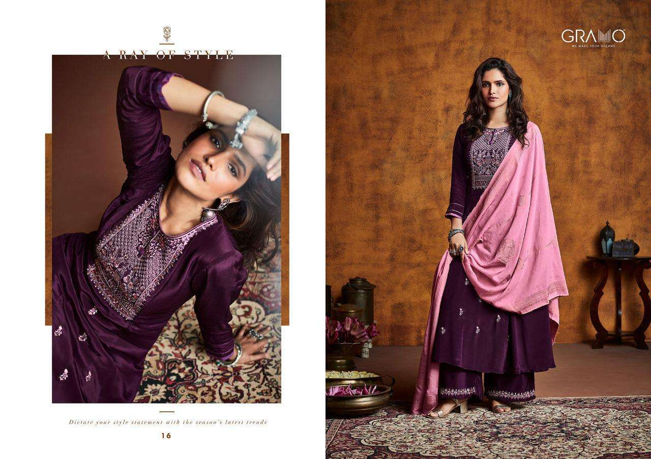 Gramo Mayra Vol 1 Fiona Silk With Work Readymade Suits Collection 03