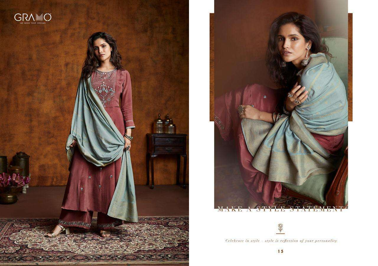 Gramo Mayra Vol 1 Fiona Silk With Work Readymade Suits Collection 05