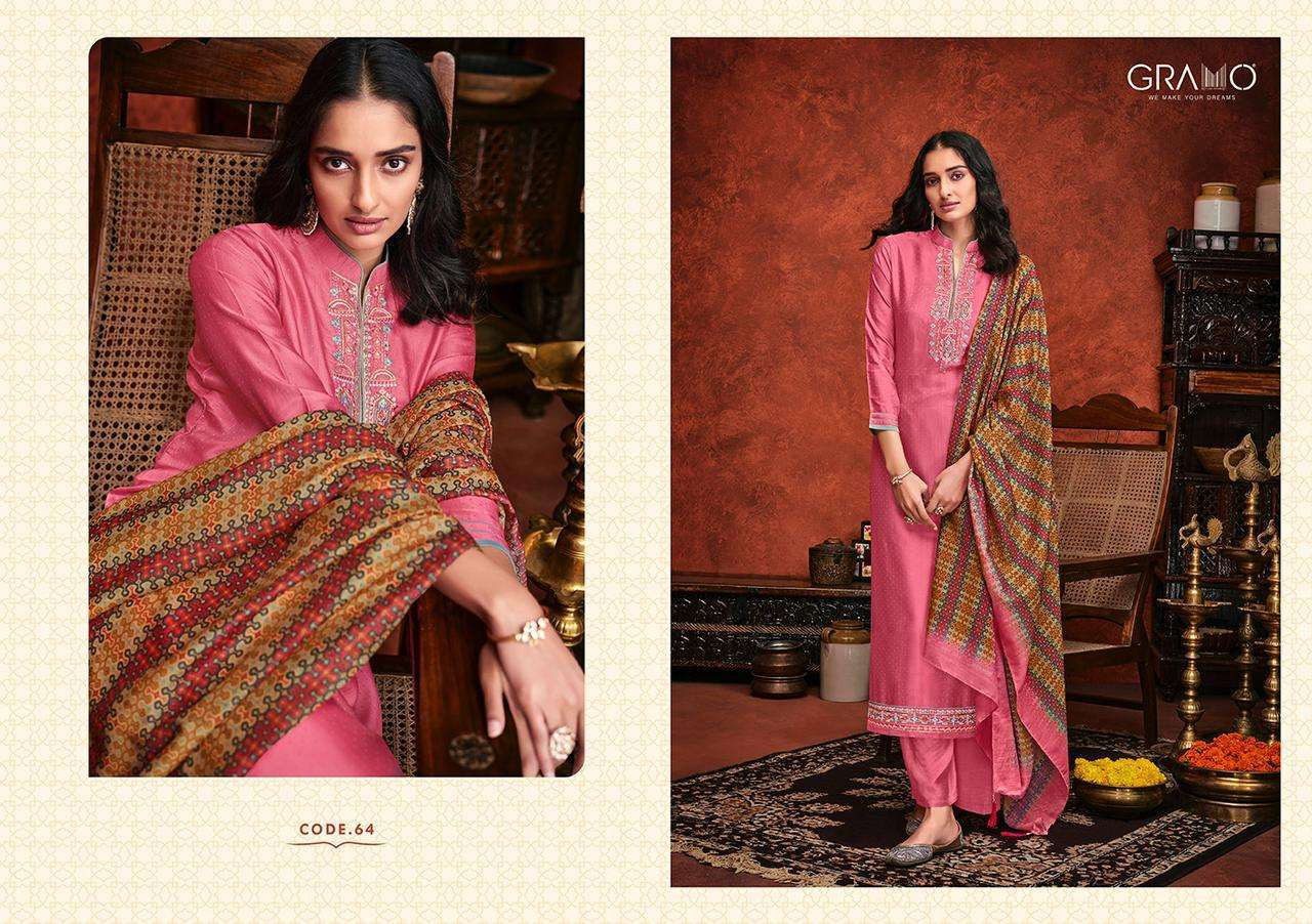Gramo Safar Vol 2 Pure Viscose With Embroidery Work Readymade Suits Collection 04