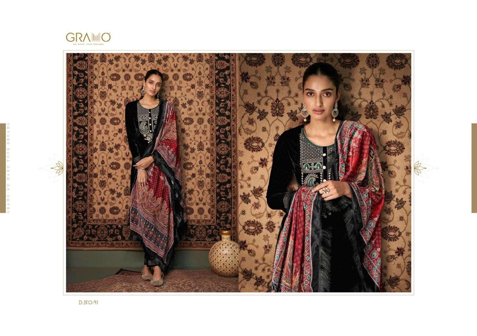 Gramo Velvet Vol 1 Pure Velvet With Work readymade Salwar Kameez Collection
